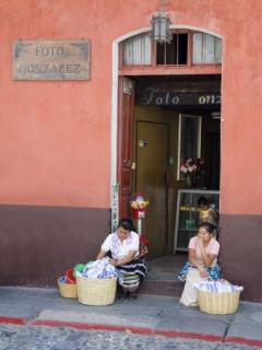 Straat verkoopsters Guatemala