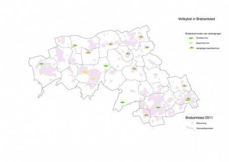 Kaart Brabantstad buitenvolleybaltoernooien